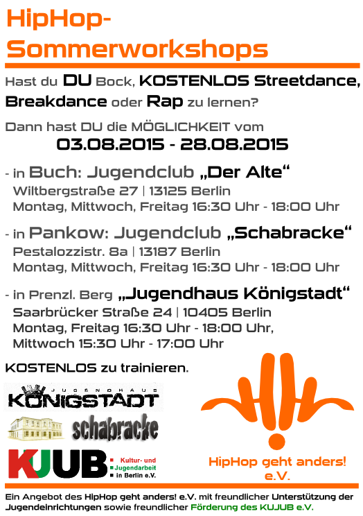HipHop-Sommerworkshops 2015